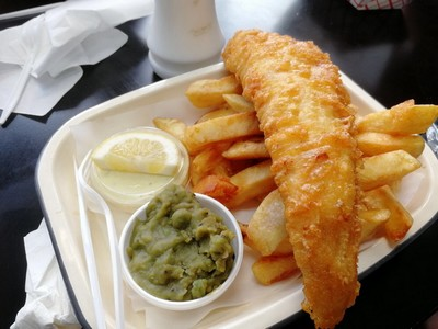 Plat : fish and chips