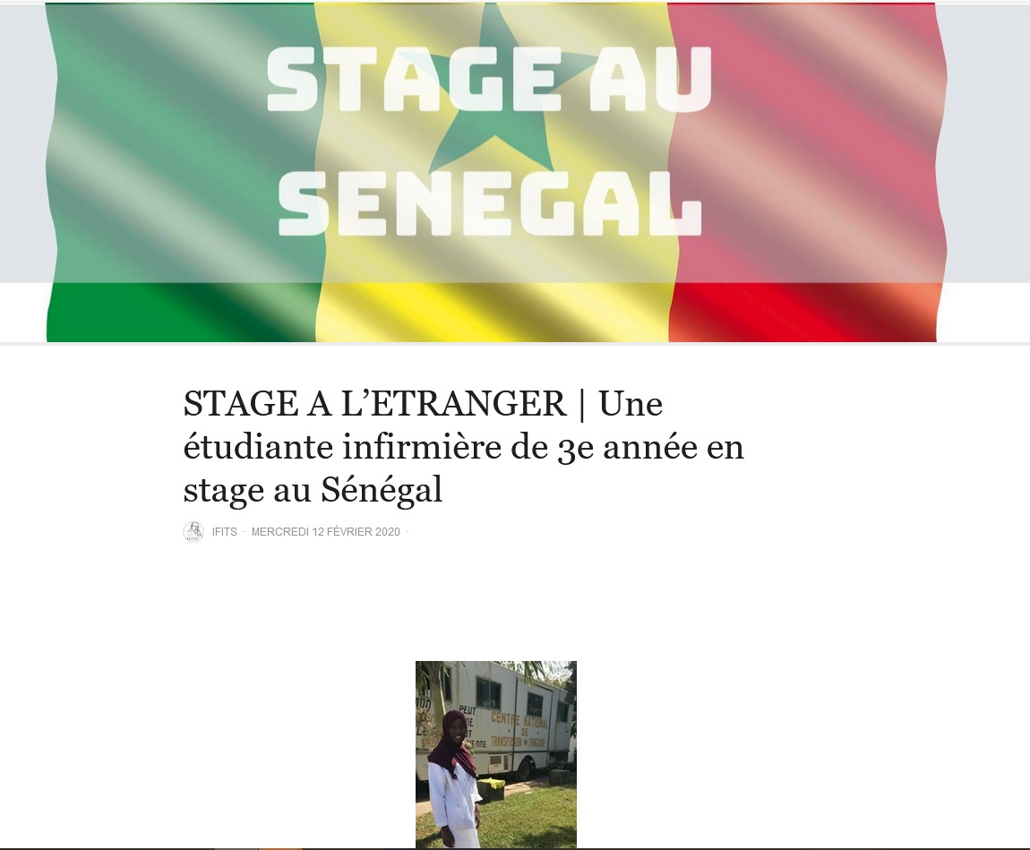 stage au Sénégal